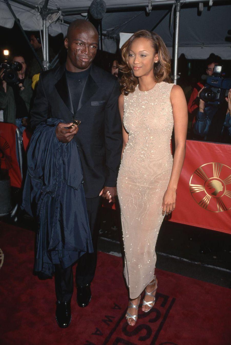 Seal et Tyra Banks en 1996. Une romance de courte durée.