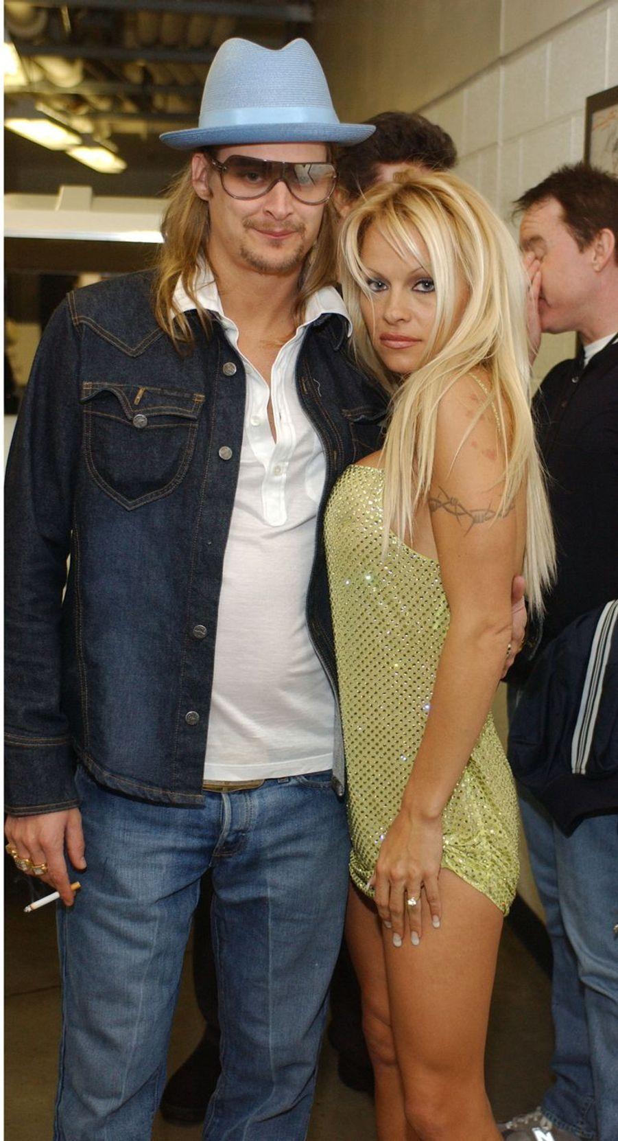 Pamela Anderson etKid Rock se sont mariés à Saint-Tropez en 2006.