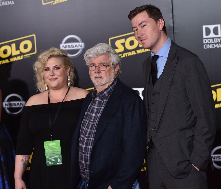 George Lucas est père de deux enfants qu'il a adoptés seuls : Katie (née en 1988) et Jett (né en 1993). Il a une autre fille, Amanda, adoptée en 1981 avec son ex-femme Marcia.