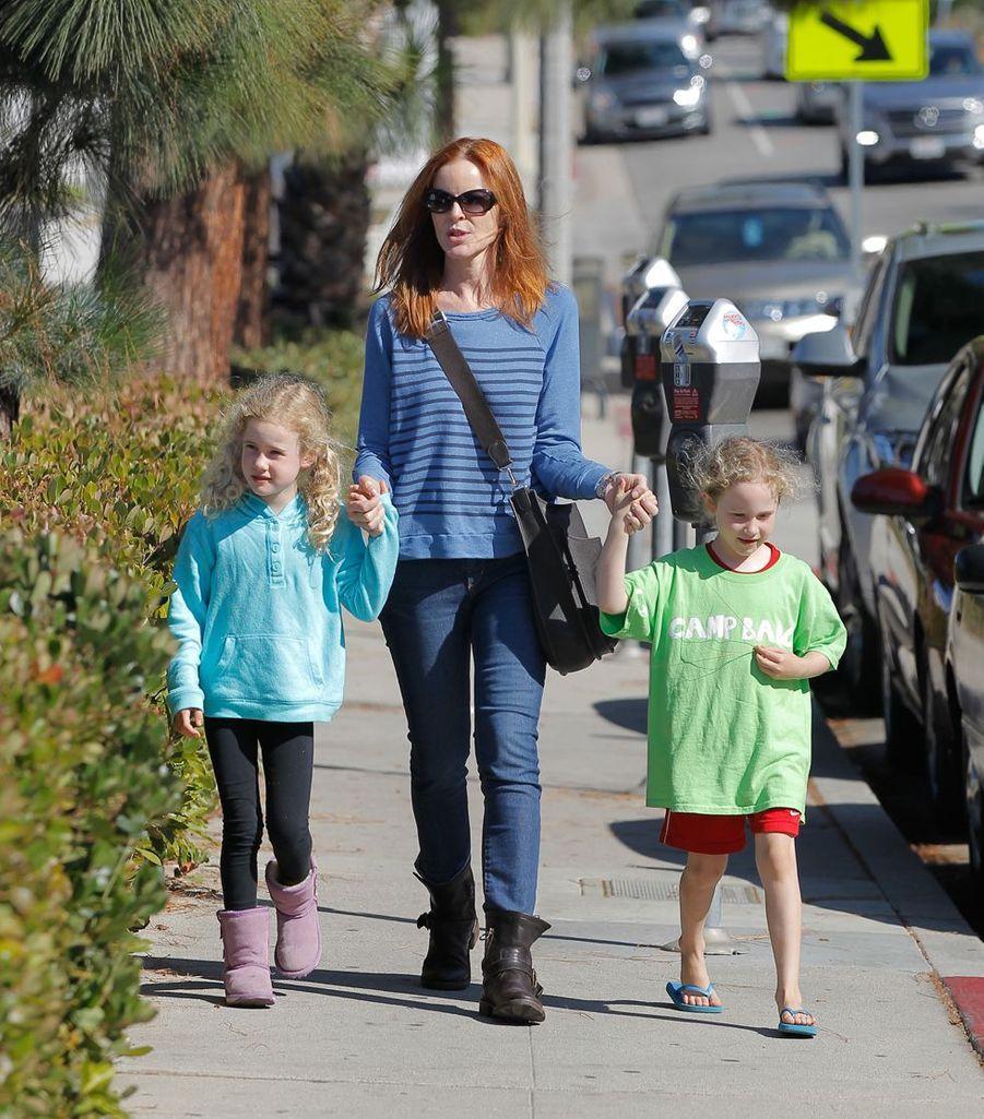 Marcia Cross a donné naissance aux jumelles Savannah et Eden à 44 ans.