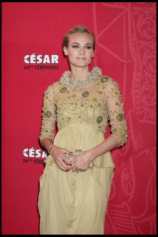 Diane Krugerlors de la 34e cérémonie des César à Paris, le 27 février 2009