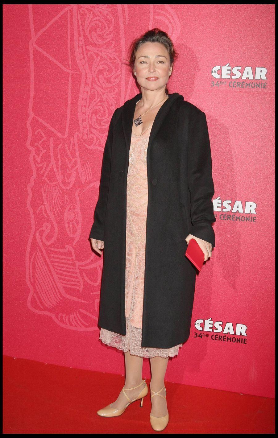 Catherine Frotlors de la 34e cérémonie des César à Paris, le 27 février 2009