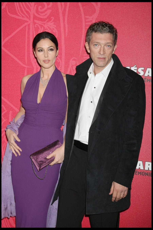 Vincent Cassel et Monica Bellucci lors de la 34e cérémonie des César à Paris, le 27 février 2009