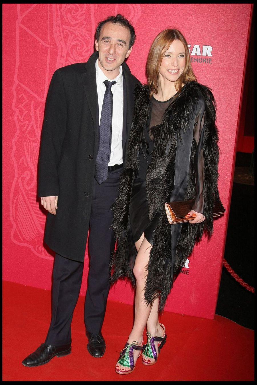 Elie Semoun et Léa Druckerlors de la 34e cérémonie des César à Paris, le 27 février 2009