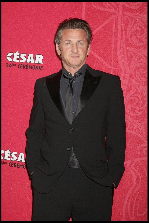 Sean Penn lors de la 34e cérémonie des César à Paris, le 27 février 2009