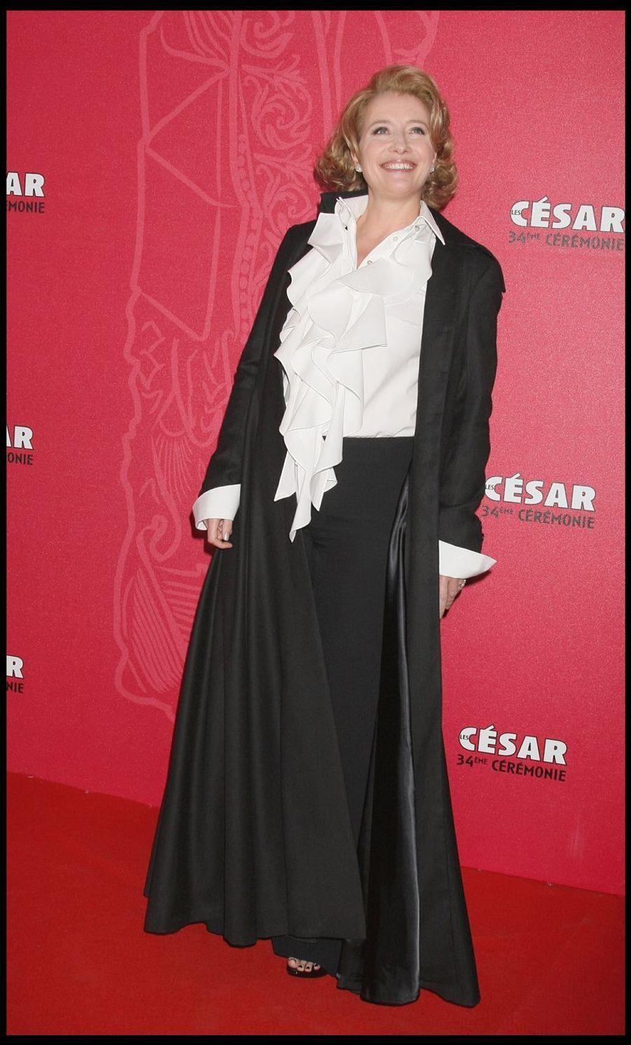 Emma Thompson lors de la 34e cérémonie des César à Paris, le 27 février 2009