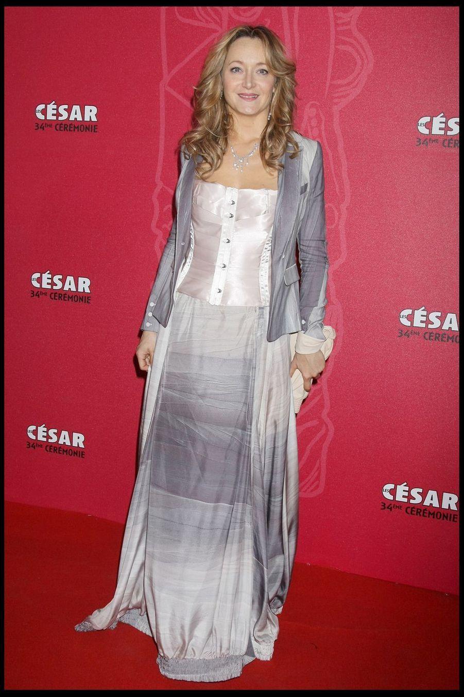 Julie Ferrierlors de la 34e cérémonie des César à Paris, le 27 février 2009
