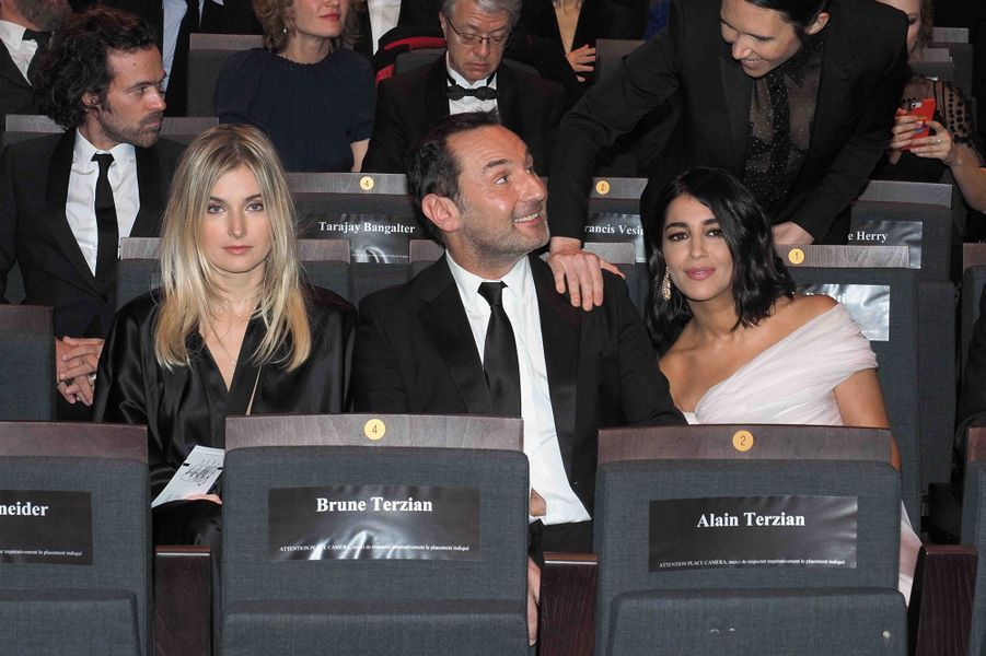 Alizée Guinochet, Gilles Lellouche et Leïla Bekhtilors de la cérémonie des César à la Salle Pleyel à Paris le 22 février 2019