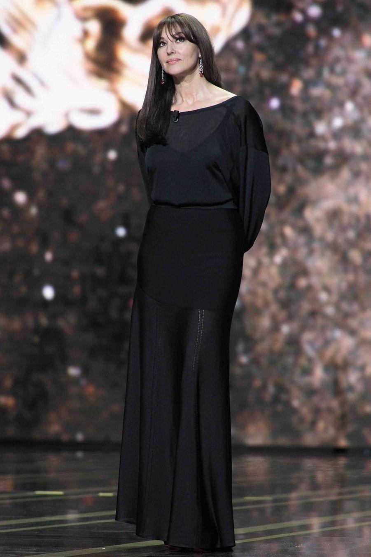 Monica Belluccilors de la cérémonie des César à la Salle Pleyel à Paris le 22 février 2019