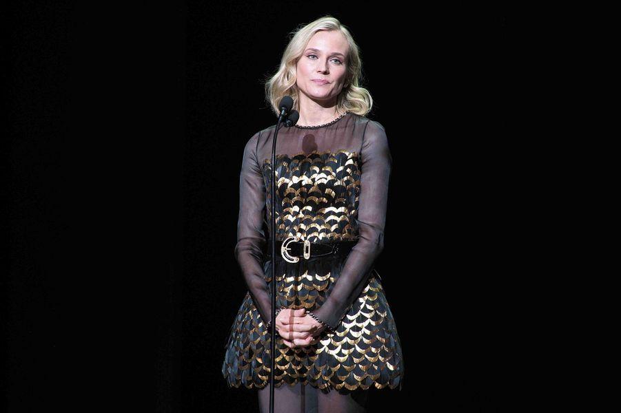 Diane Krugerlors de la cérémonie des César à la Salle Pleyel à Paris le 22 février 2019