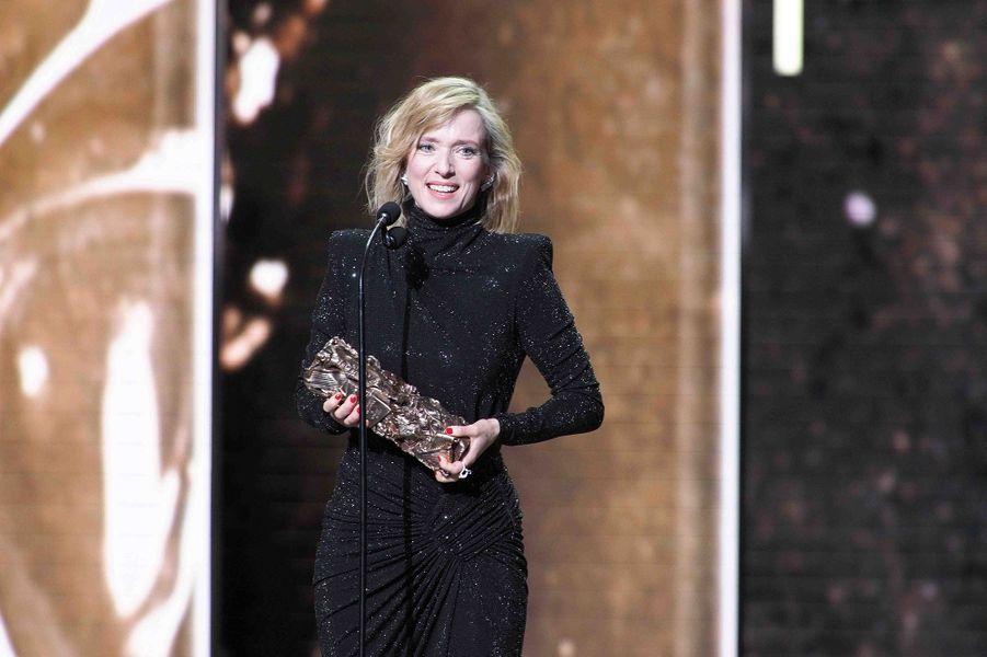 """Léa Drucker (meilleure actrice pour """"Jusqu'à la garde"""")lors de la cérémonie des César à la Salle Pleyel à Paris le 22 février 2019"""