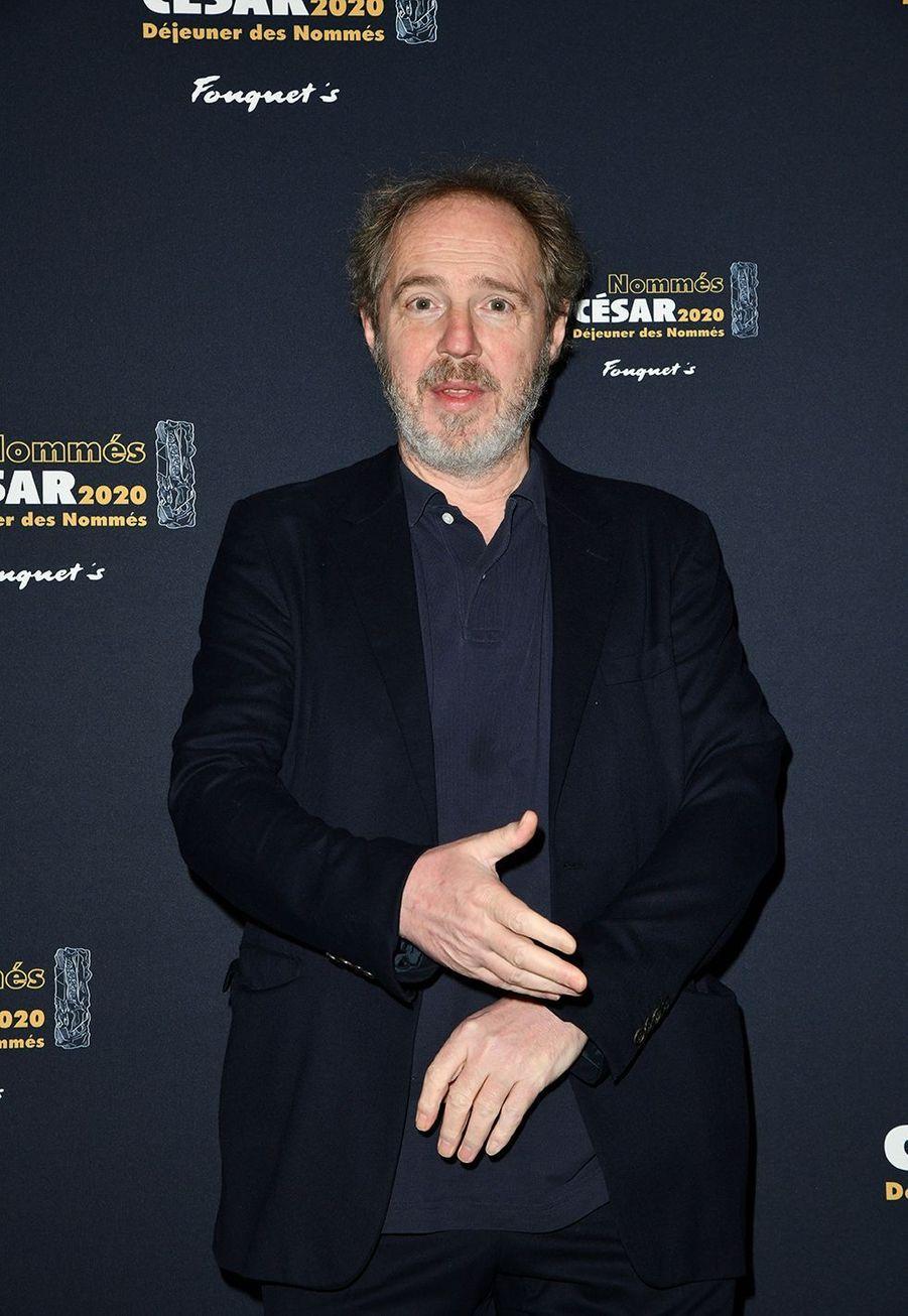 Arnaud Desplechin (meilleur film et meilleur réalisateur pour «Roubaix, une lumière»)au déjeuner des nommés des César au Fouquet's à Paris le 9 février 2020