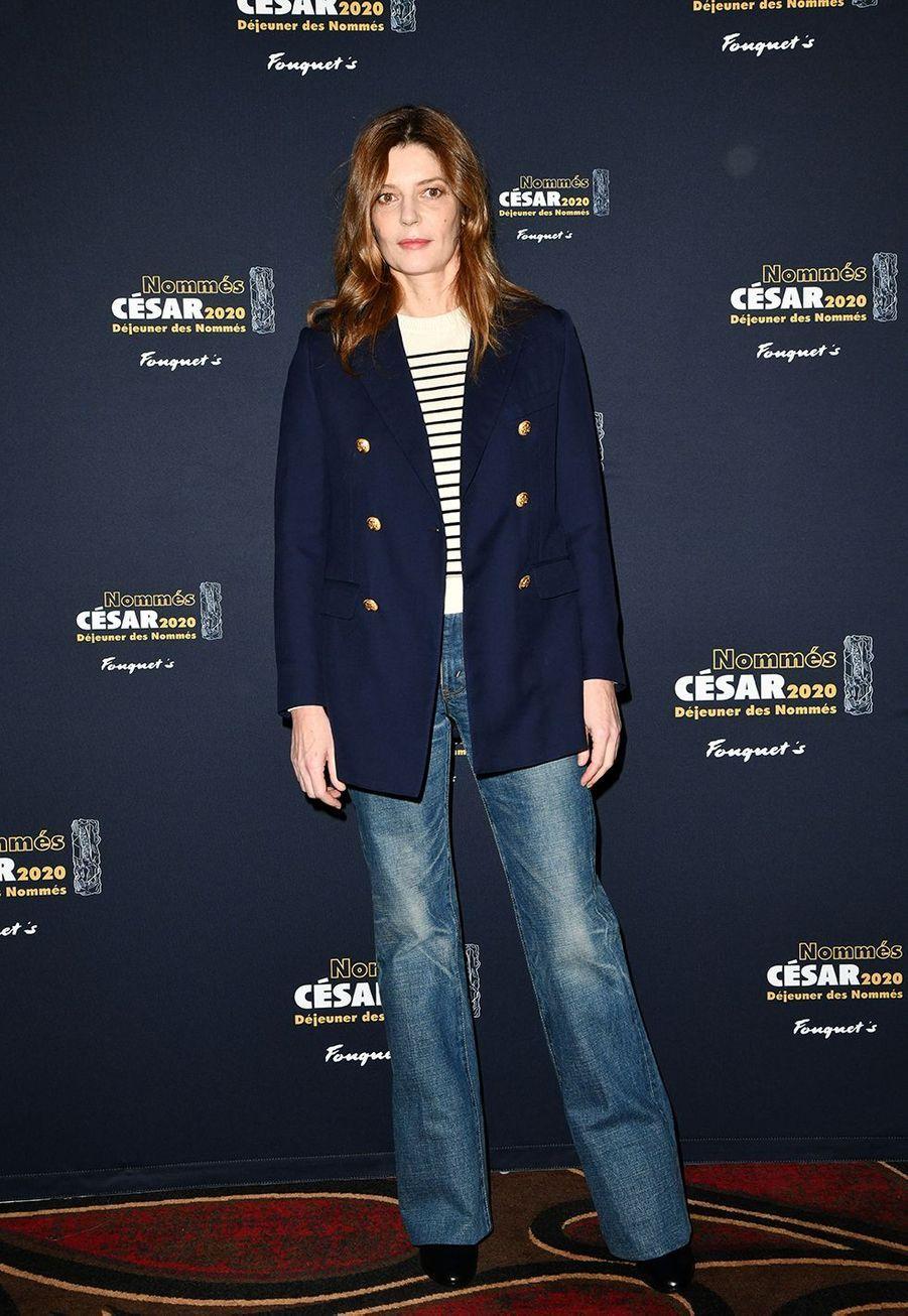 Chiara Mastroianni (meilleure actrice dans «Chambre 212»)au déjeuner des nommés des César au Fouquet's à Paris le 9 février 2020