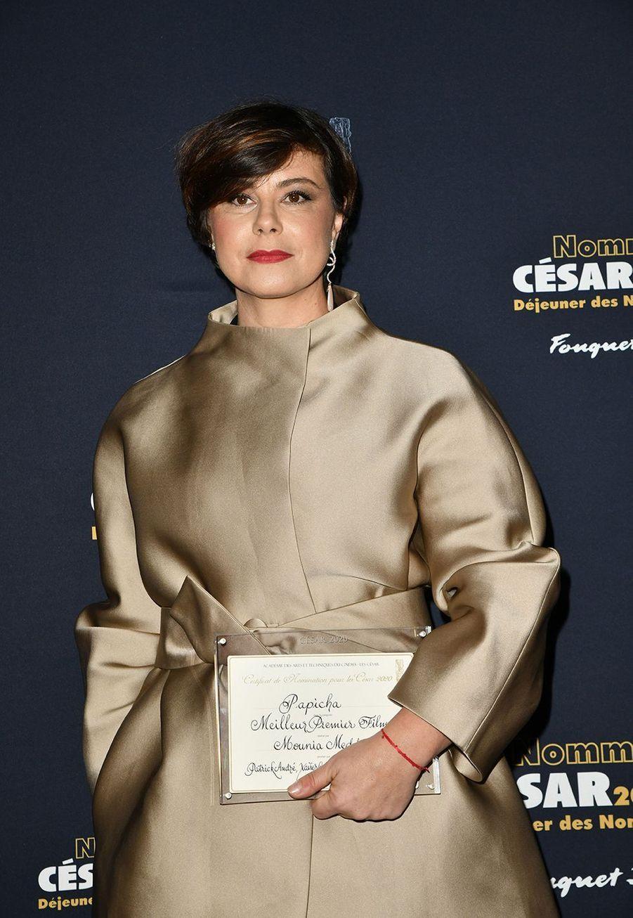 Mounia Meddour (meilleur premier film pour «Papicha»)au déjeuner des nommés des César au Fouquet's à Paris le 9 février 2020