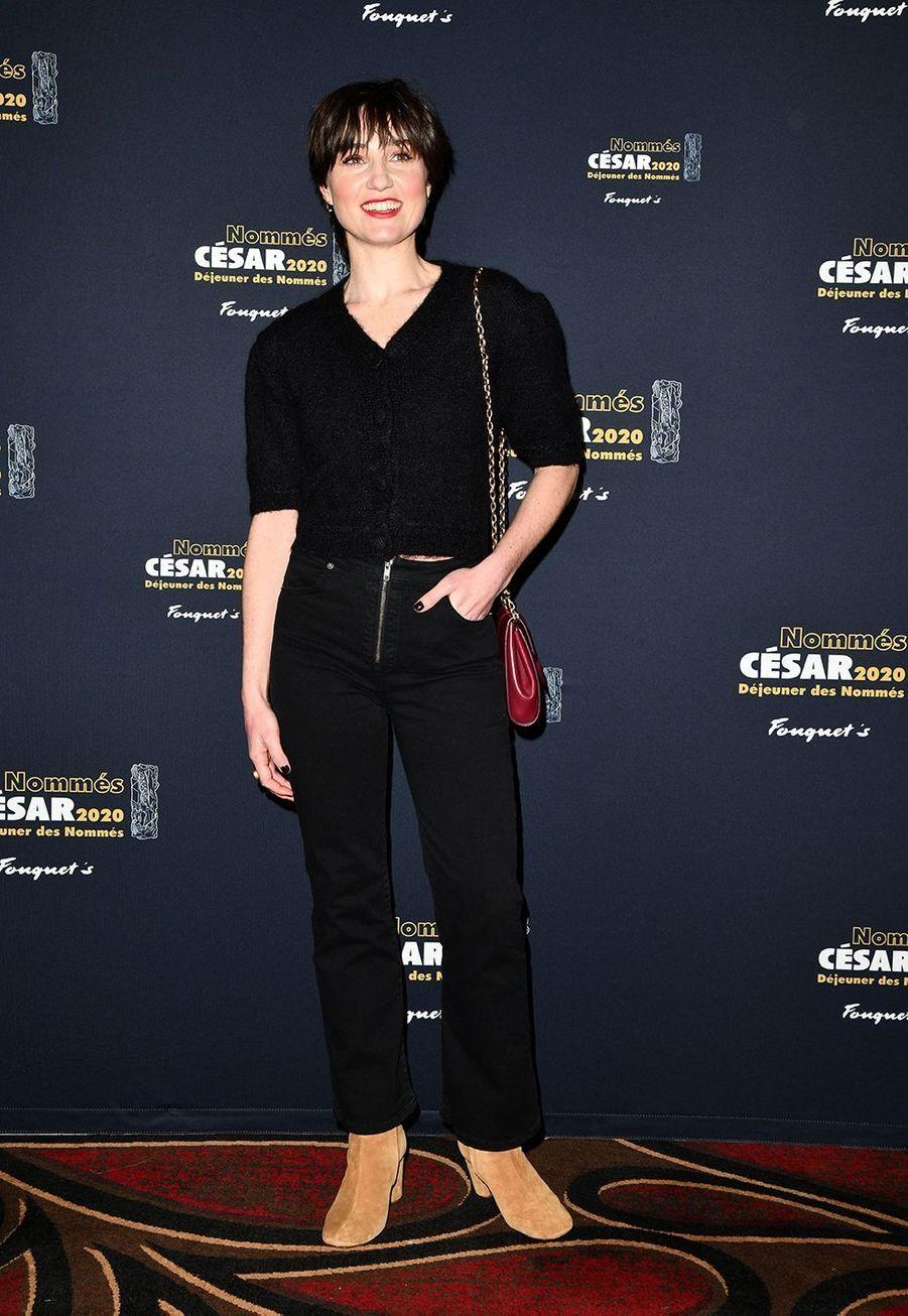 Nina Meurisse (meilleur espoir féminin dans «Camille»)au déjeuner des nommés des César au Fouquet's à Paris le 9 février 2020