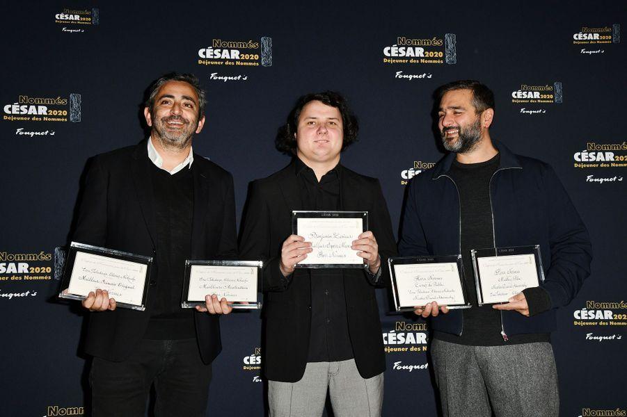 Olivier Nakache, Benjamin Lesieur et Eric Toledano (meilleur film, meilleur réalisateur et meilleur espoir masculin pour «Hors Normes»)au déjeuner des nommés des César au Fouquet's à Paris le 9 février 2020