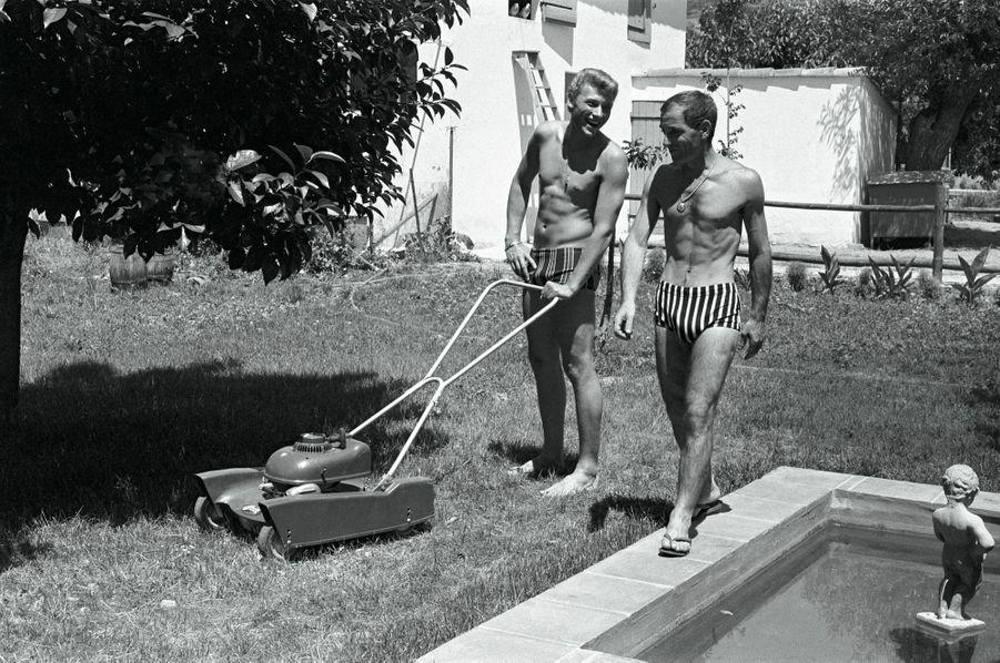 Vacances à Mougins, dans la maison de Charles, en juillet 1962.