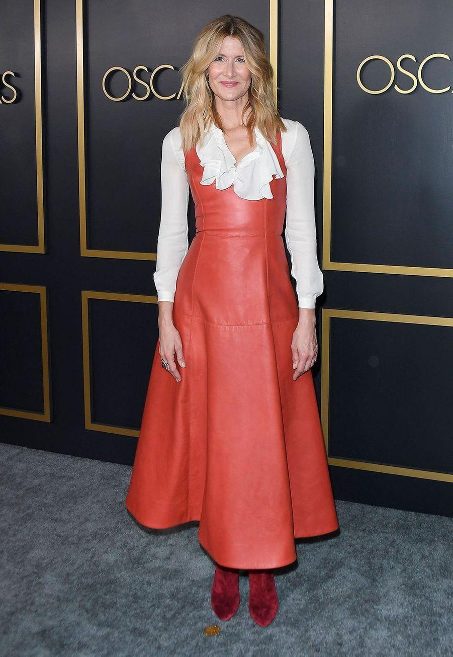 Laura Dernau au déjeuner des nommés aux Oscars 2020 à Los Angeles, le lundi 27 janvier.