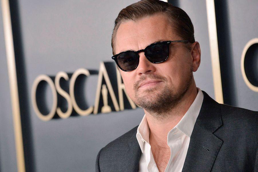 Leonardo DiCaprioau déjeuner des nommés aux Oscars 2020 à Los Angeles, le lundi 27 janvier.