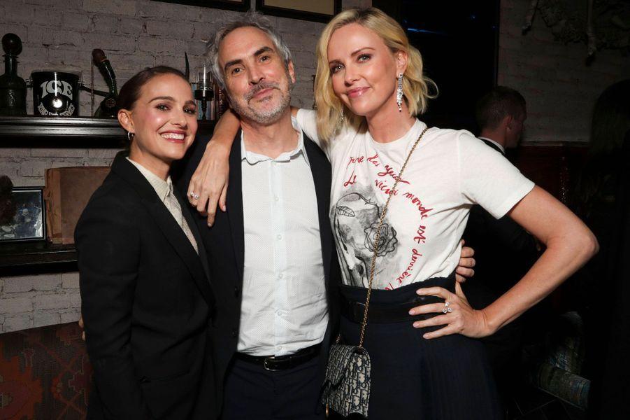 Natalie Portman, Alfonso Cuaron et Charlize Theron