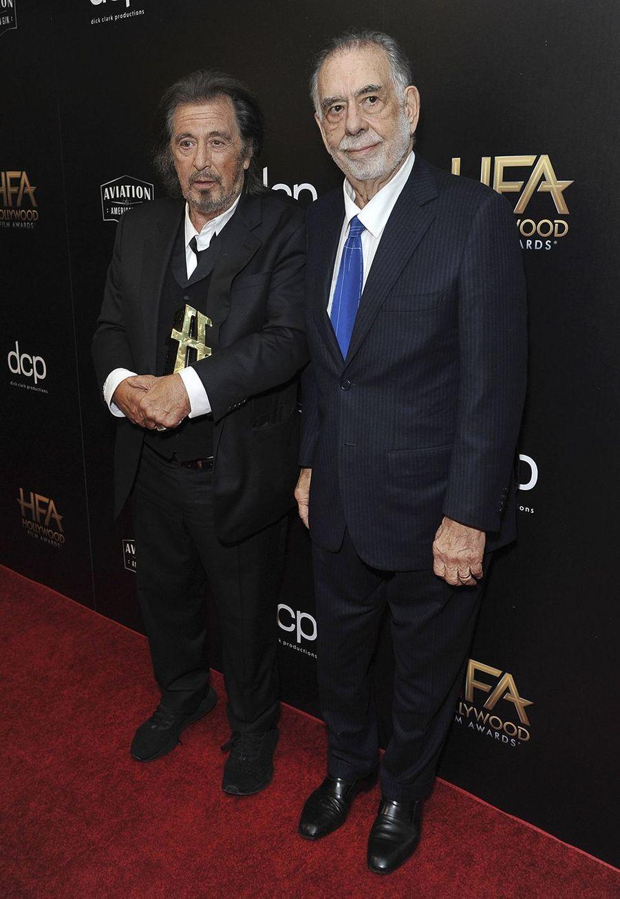 Al Pacino et Francis Ford Coppolalors des 23èmeHollywood Film Awards à Beverly Hills, le dimanche 3 novembre 2019.