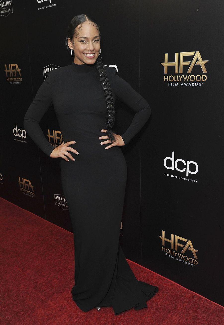 Alicia Keyslors des 23èmeHollywood Film Awards à Beverly Hills, le dimanche 3 novembre 2019.