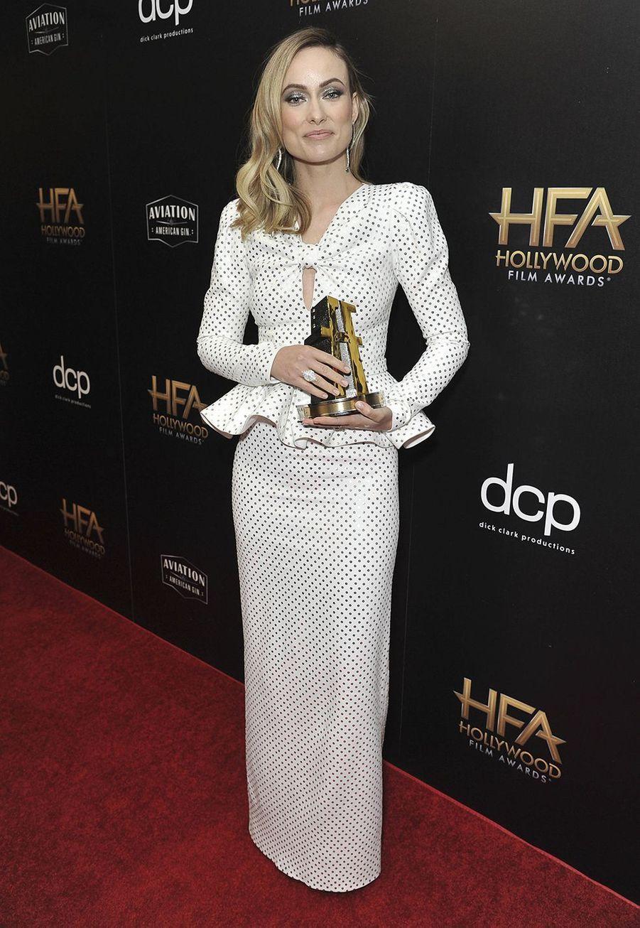 Olivia Wildelors des 23èmeHollywood Film Awards à Beverly Hills, le dimanche 3 novembre 2019.