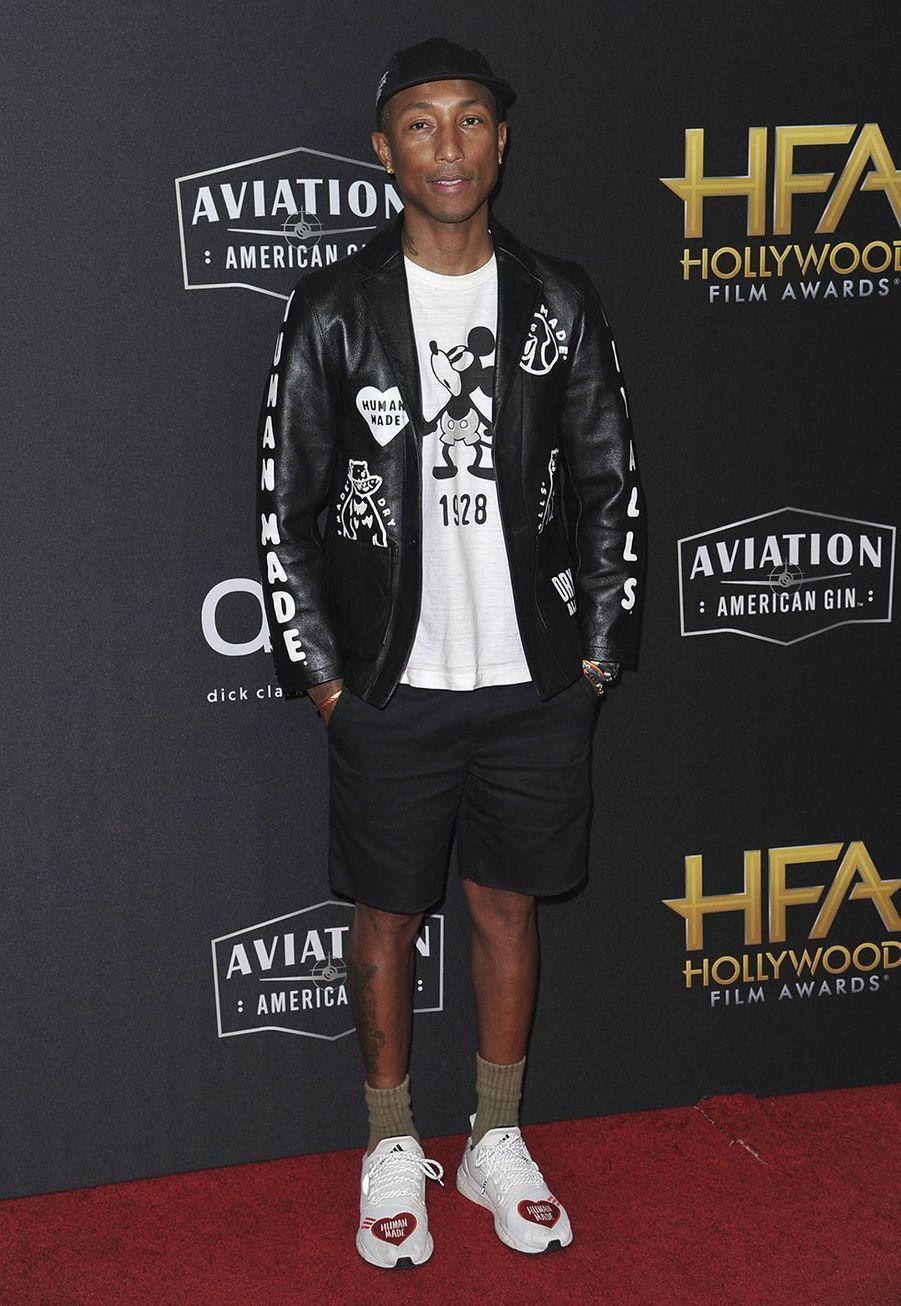 Pharrell Williamslors des 23èmeHollywood Film Awards à Beverly Hills, le dimanche 3 novembre 2019.