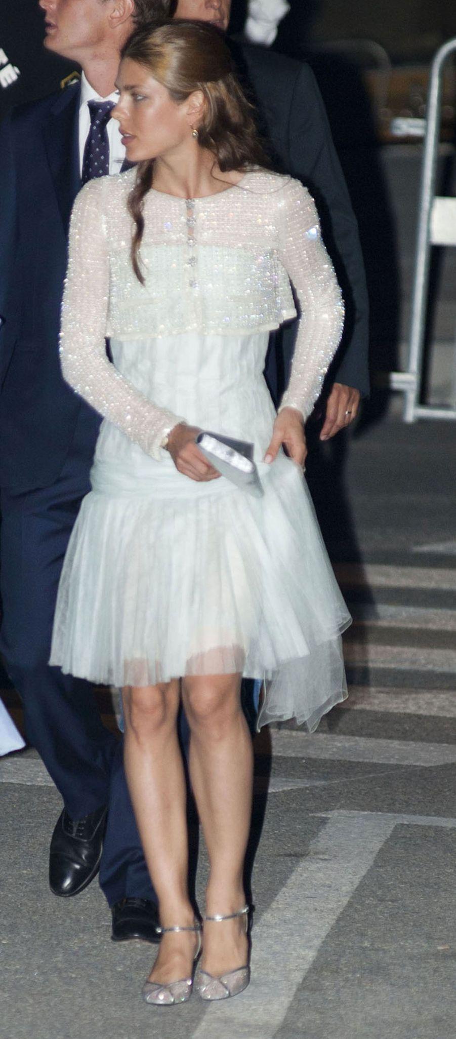 Au mariage de Son Altesse Royale le prince Albert II avec Charlene Wittstock à Monaco, en 2011