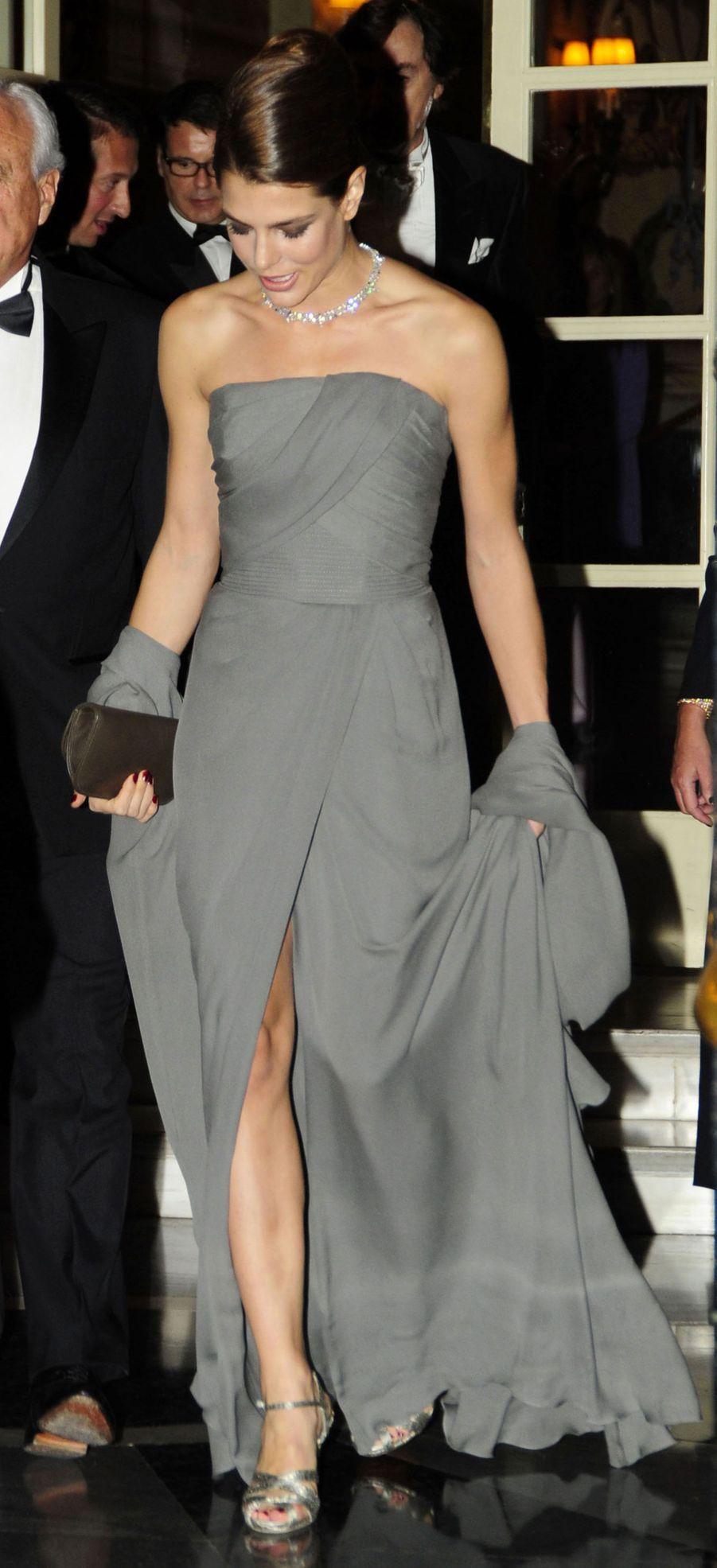 Avant de se rendre au gala Cartier, à Madrid en 2012