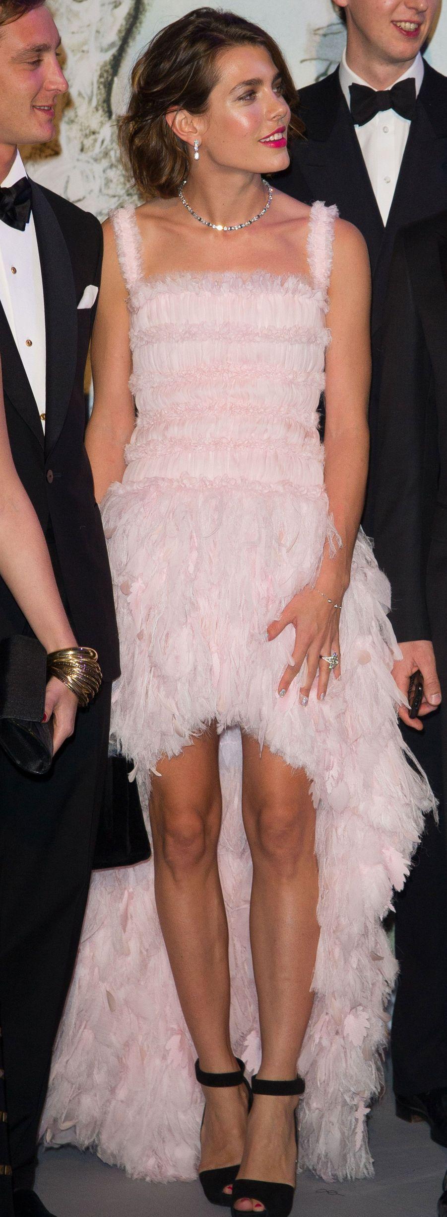 En Chanel, au Bal de la Rose, à Monaco en 2013