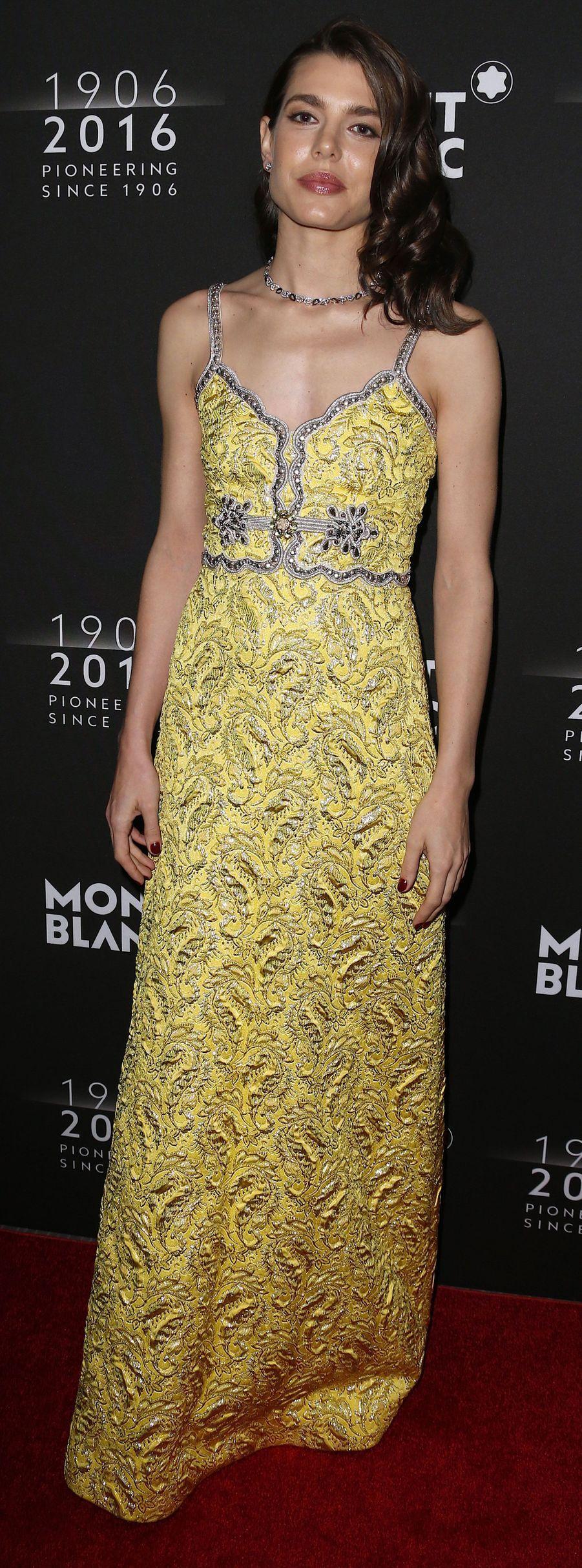 En robe Gucci à la soirée du 110ème anniversaire de Montblanc à New York en 2016