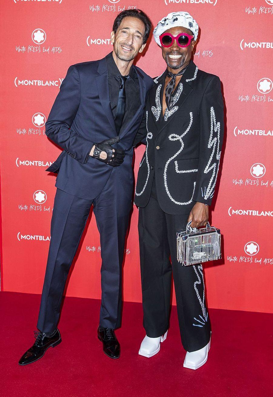 Adrien Brody et Billy Porterà la soirée Montblanc organisée pour le lancement de la collection «(Montblanc M)RED»au profit de l'association (RED) à Paris le 8 octobre 2019