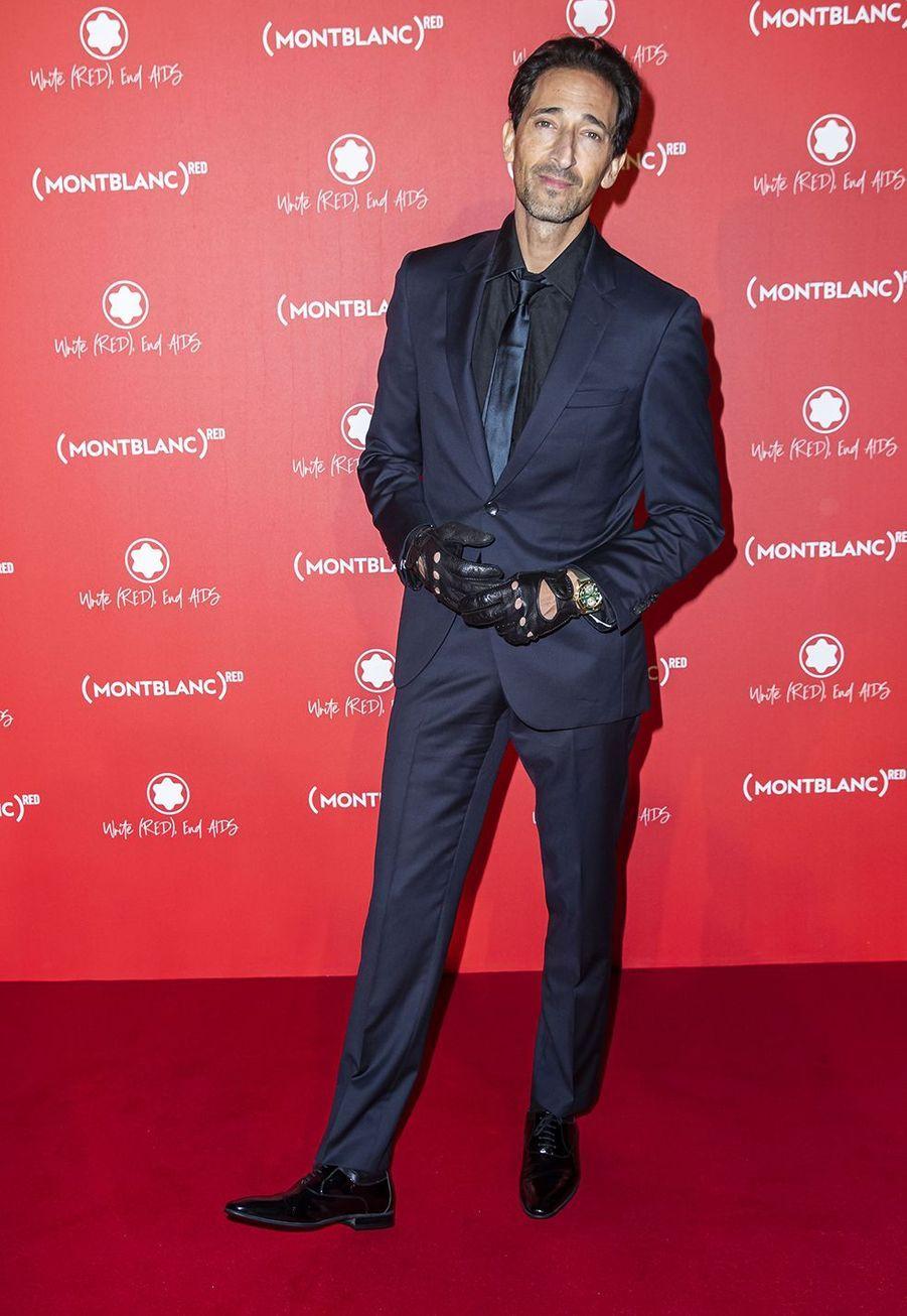 Adrien Brodyà la soirée Montblanc organisée pour le lancement de la collection «(Montblanc M)RED»au profit de l'association (RED) à Paris le 8 octobre 2019