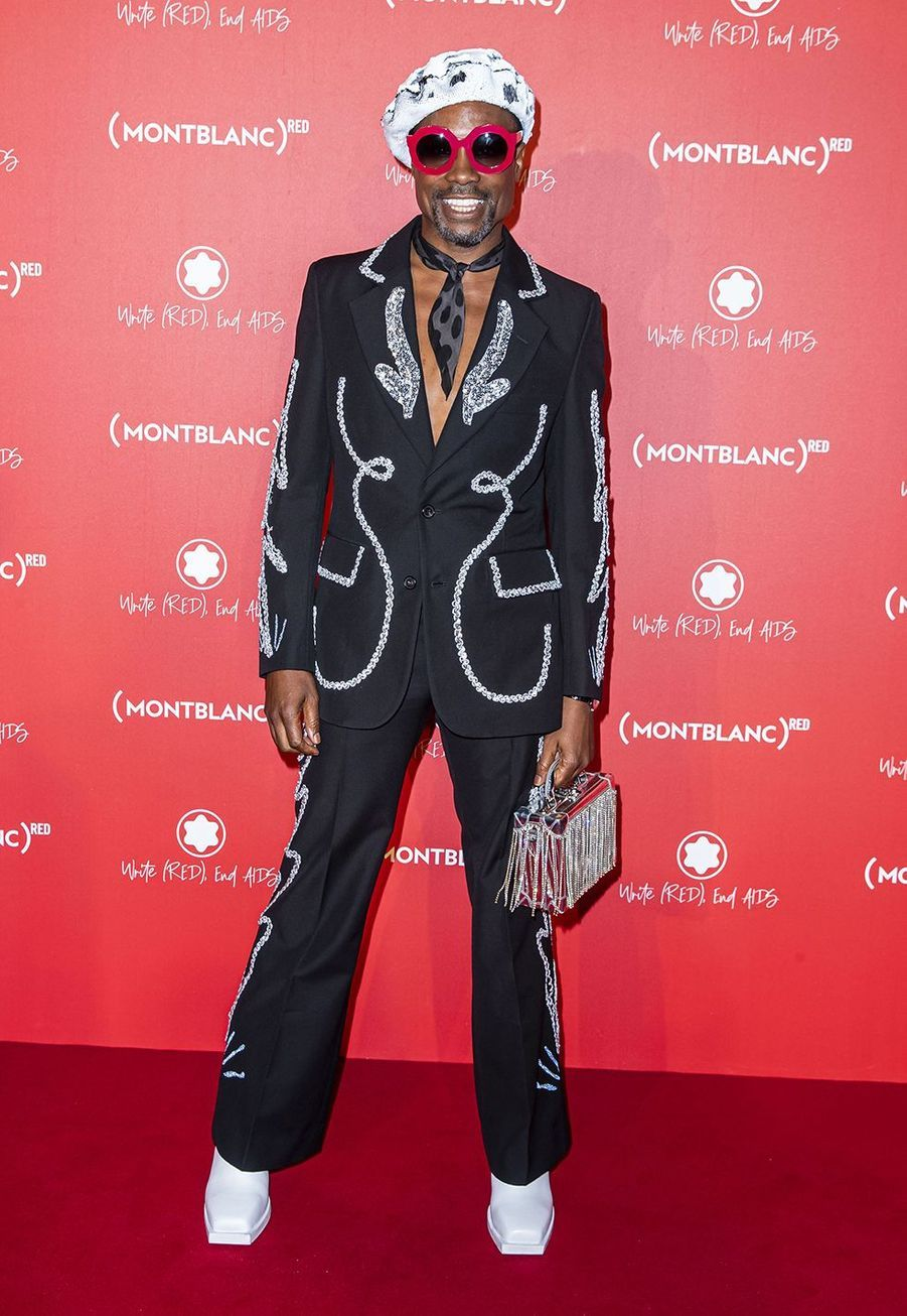Billy Porter à la soirée Montblanc organisée pour le lancement de la collection «(Montblanc M)RED» au profit de l'association (RED) à Paris le 8 octobre 2019