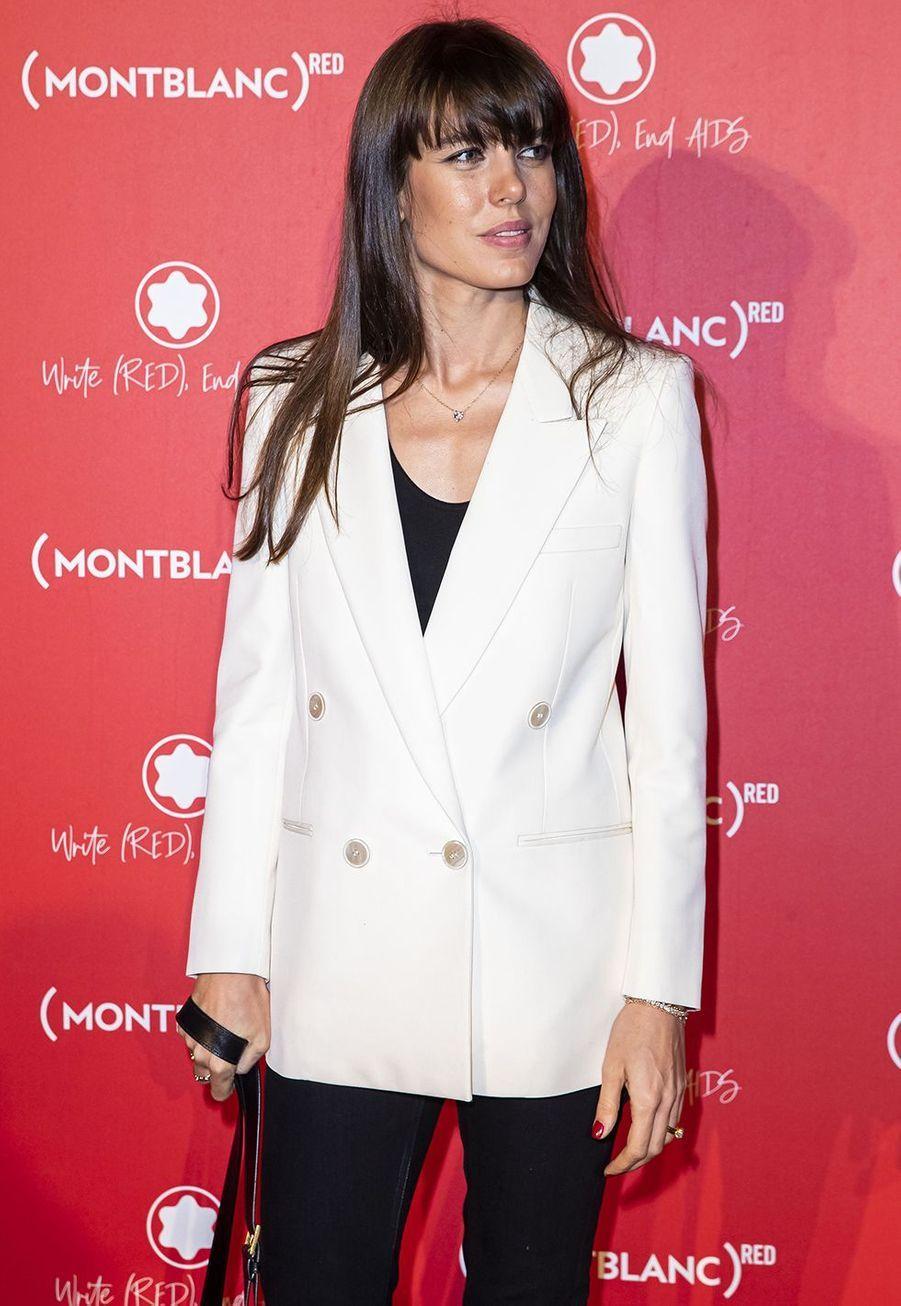 Charlotte Casiraghià la soirée Montblanc organisée pour le lancement de la collection «(Montblanc M)RED»au profit de l'association (RED) à Paris le 8 octobre 2019