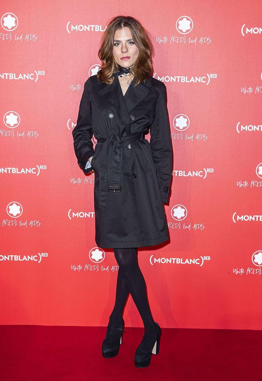 Morgane Polanskià la soirée Montblanc organisée pour le lancement de la collection «(Montblanc M)RED»au profit de l'association (RED) à Paris le 8 octobre 2019
