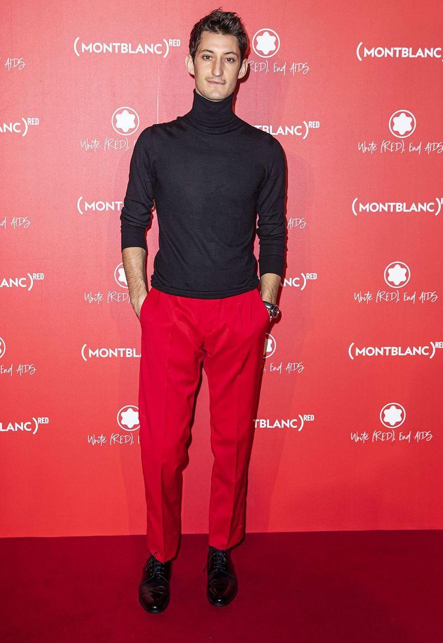 Pierre Nineyà la soirée Montblanc organisée pour le lancement de la collection «(Montblanc M)RED»au profit de l'association (RED) à Paris le 8 octobre 2019