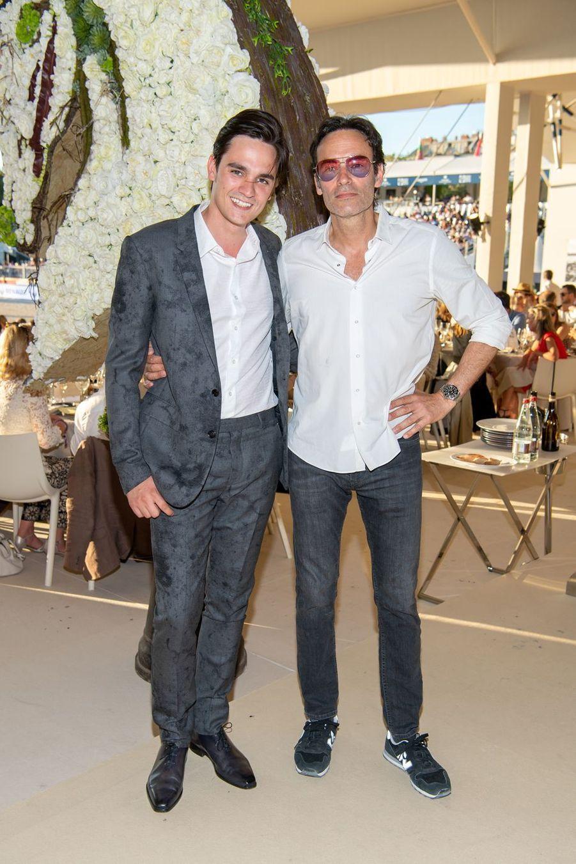 Alain-Fabien et Anthony Delon au Longines Paris Eiffel Jumping au Champ de Mars à Paris le 5 juillet 2019