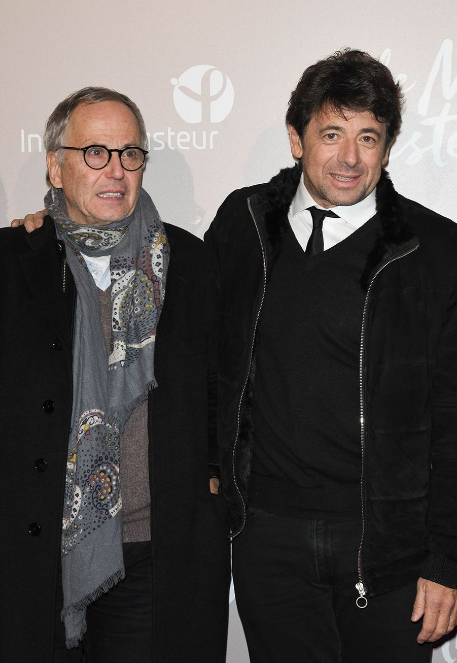 Fabrice Luchini et Patrick Bruelà l'avant-première du film «Le Meilleur reste à venir» au Grand Rex à Paris le 2 décembre 2019