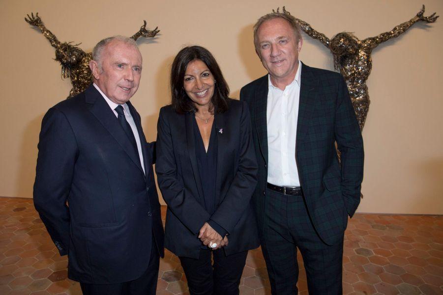 François Pinault, Anne Hidalgo et François-Henri Pinault