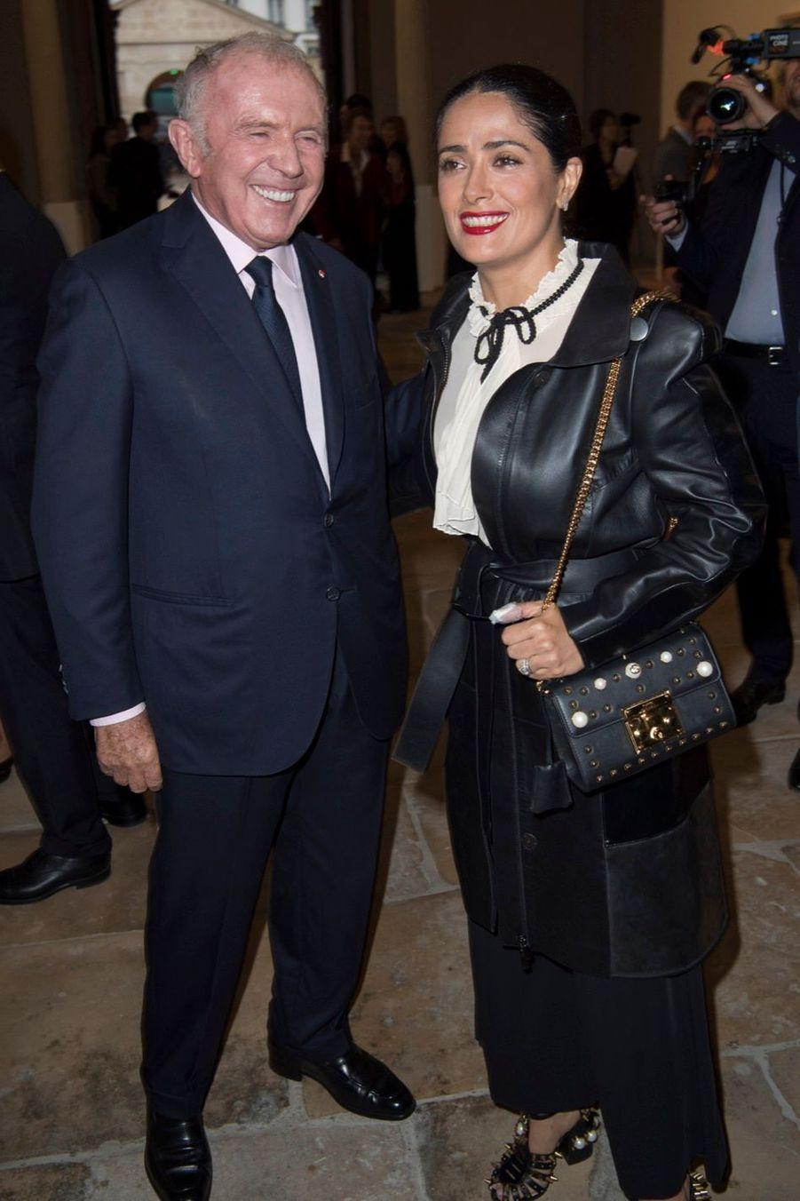 François Pinault et Salma Hayek