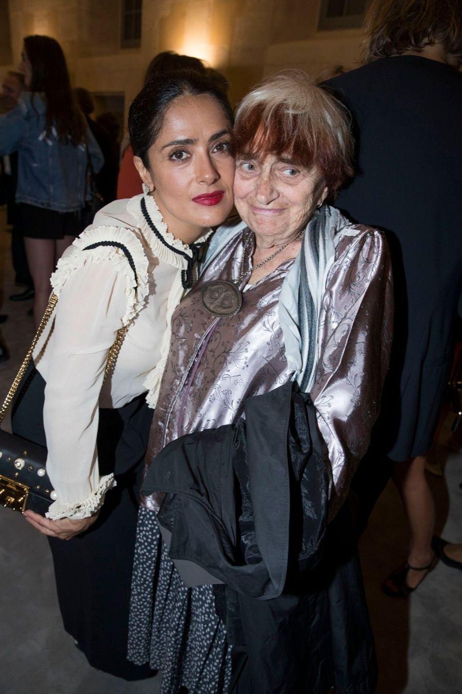 Salma Hayek et Agnès Varda