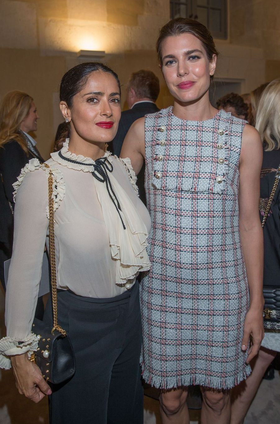 Salma Hayek et Charlotte Casiraghi