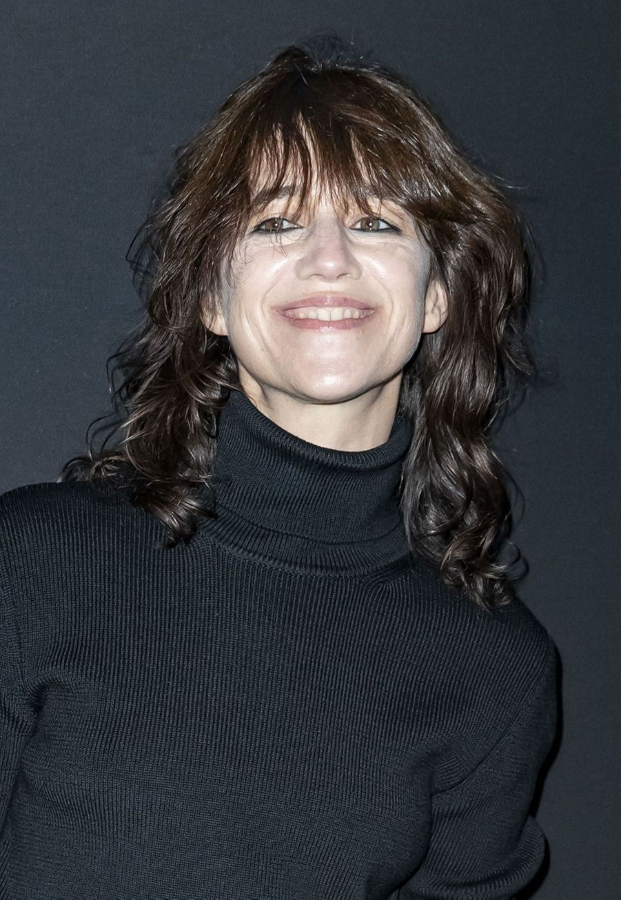 Charlotte Gainsbourg au défilé Saint Laurent lors de la Fashion Week de Paris le 26 février 2019
