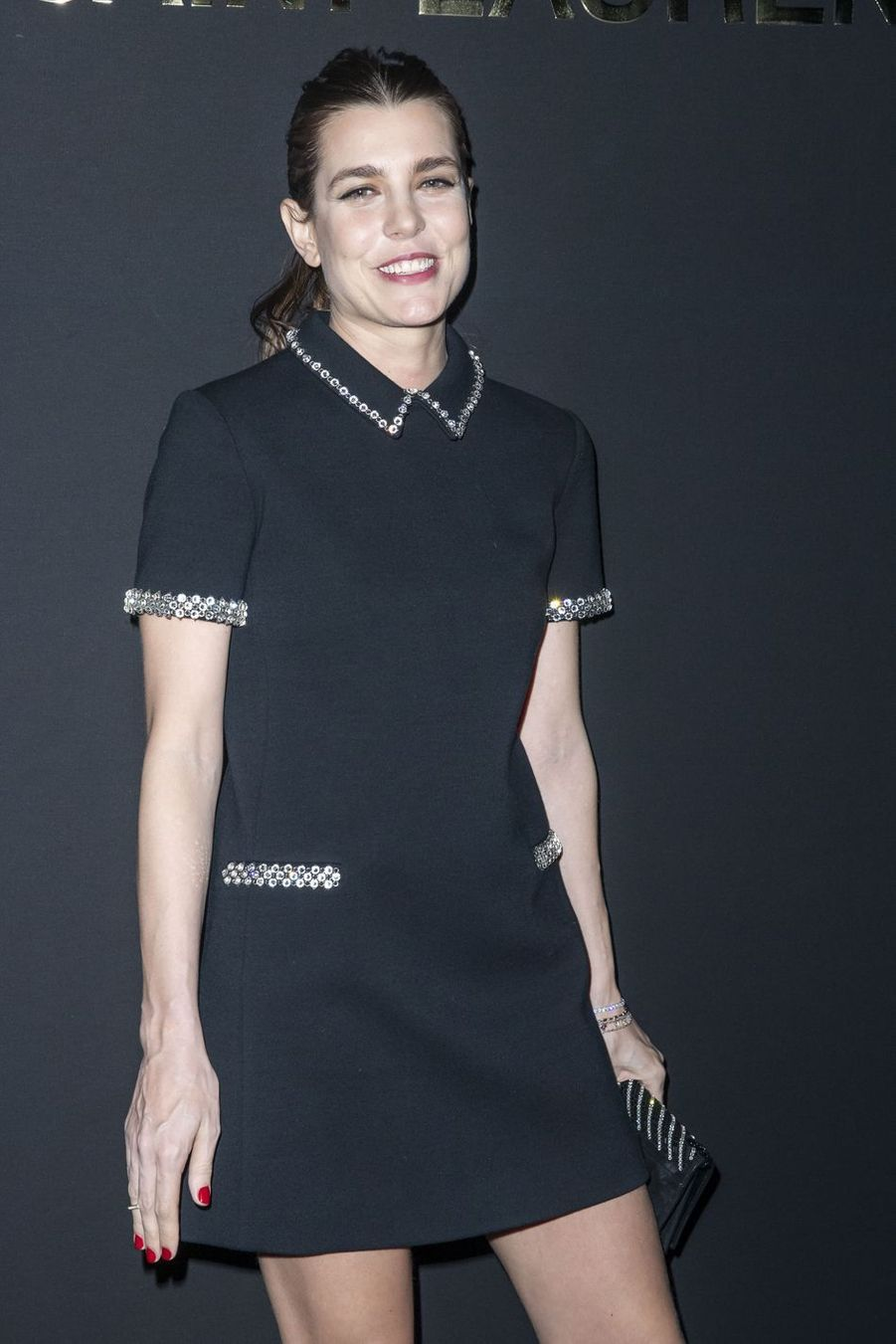Charlotte Casiraghi au défilé Saint Laurent lors de la Fashion Week de Paris le 26 février 2019