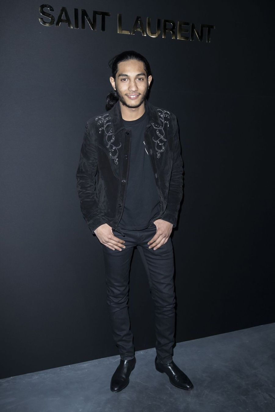 Dylan Robert au défilé Saint Laurent lors de la Fashion Week de Paris le 26 février 2019