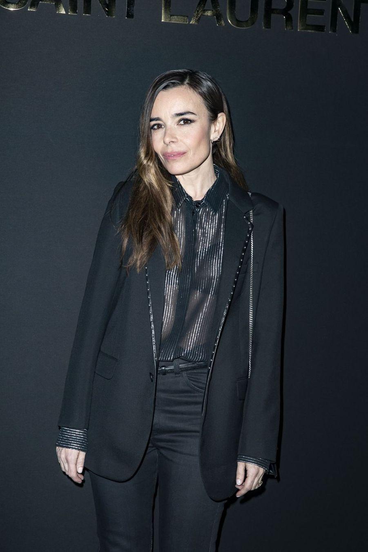 Elodie Bouchez au défilé Saint Laurent lors de la Fashion Week de Paris le 26 février 2019