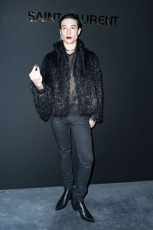 Ezra Millerau défilé Saint Laurent lors de la Fashion Week de Paris le 26 février 2019