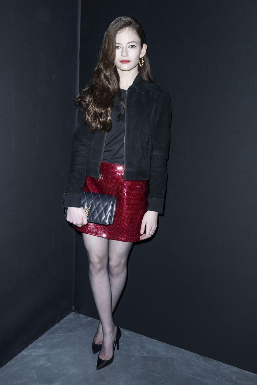 Mackenzie Foyau défilé Saint Laurent lors de la Fashion Week de Paris le 26 février 2019